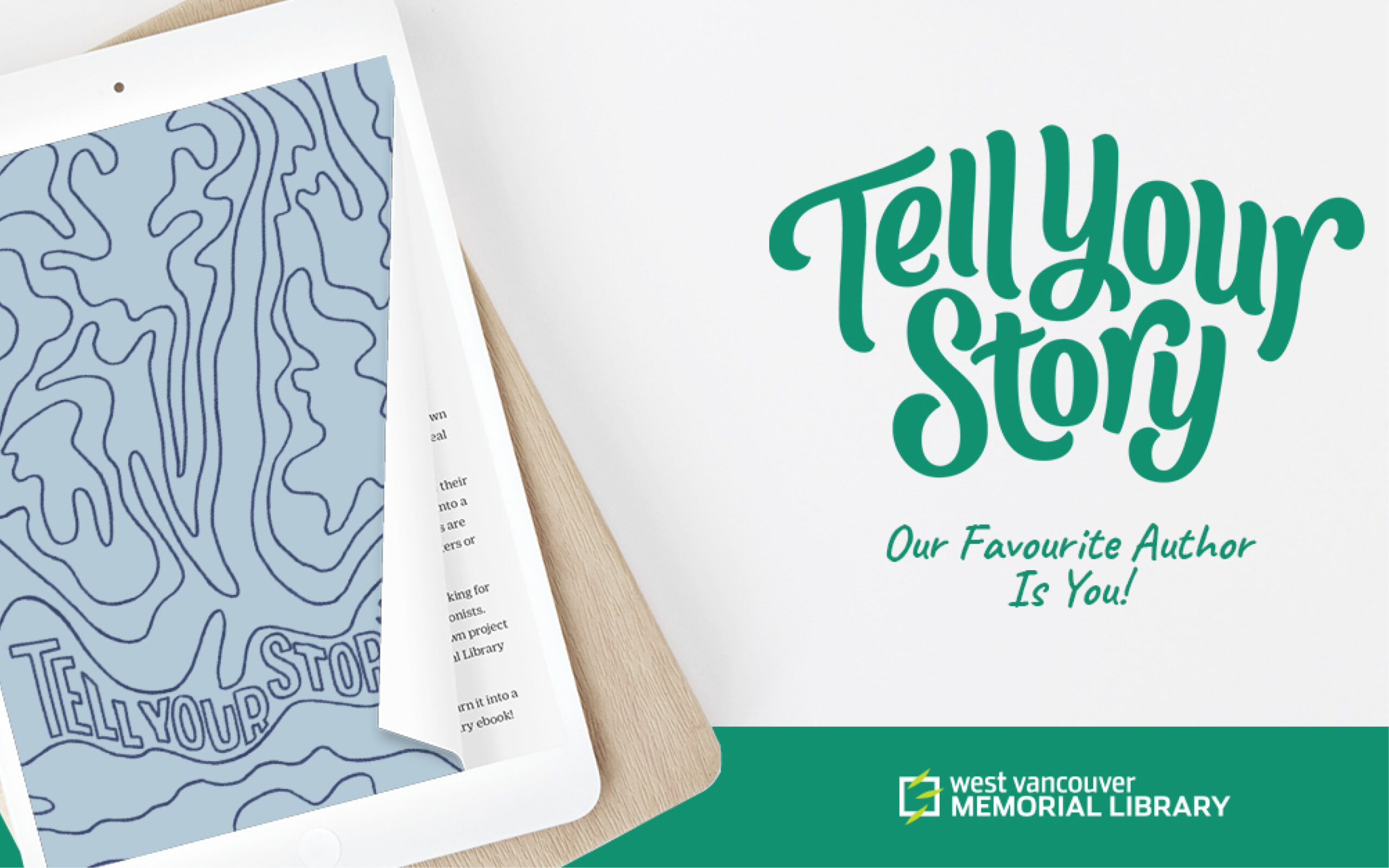 """Test reading """"Tell Your Story: Our favourite author is you"""""""