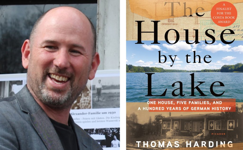 author Thomas Harding and book cover for The House by the Lake