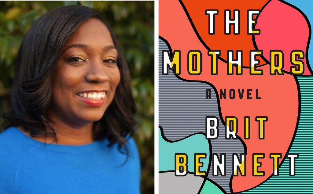 author Brit Bennett and book cover for The Mothers
