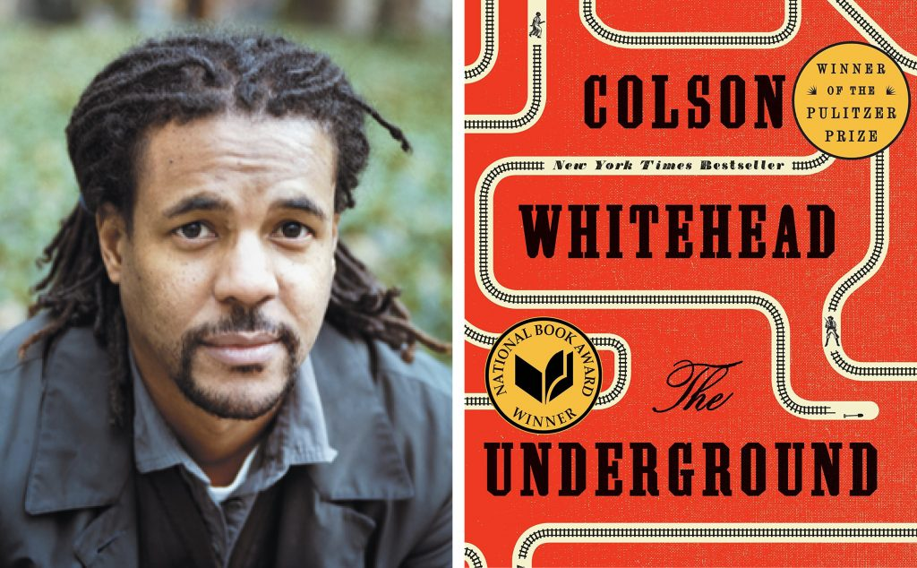 author Colson Whitehead and book cover for The Underground