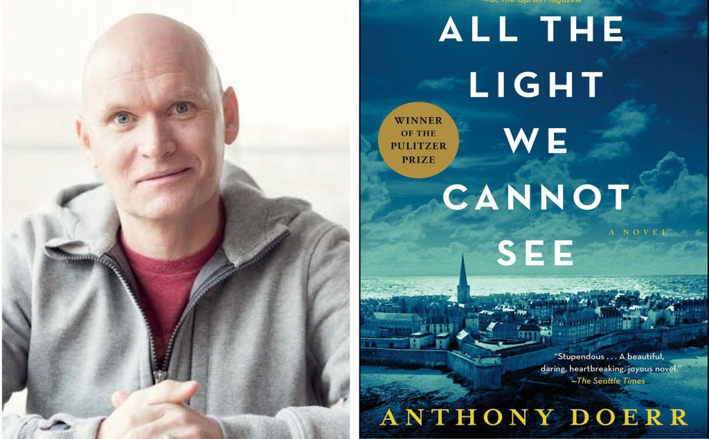 Author ANthony Doerr and book cover for All the Light We Cannot See