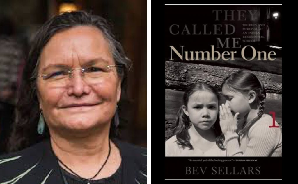 author Bev Sellars and book cover for They Called Me NUmber One