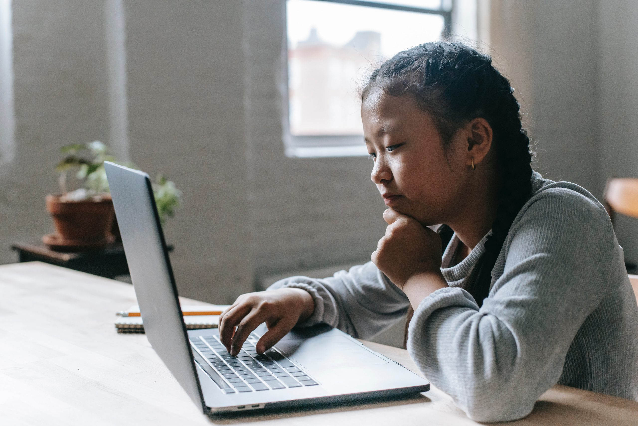 Child on a computer