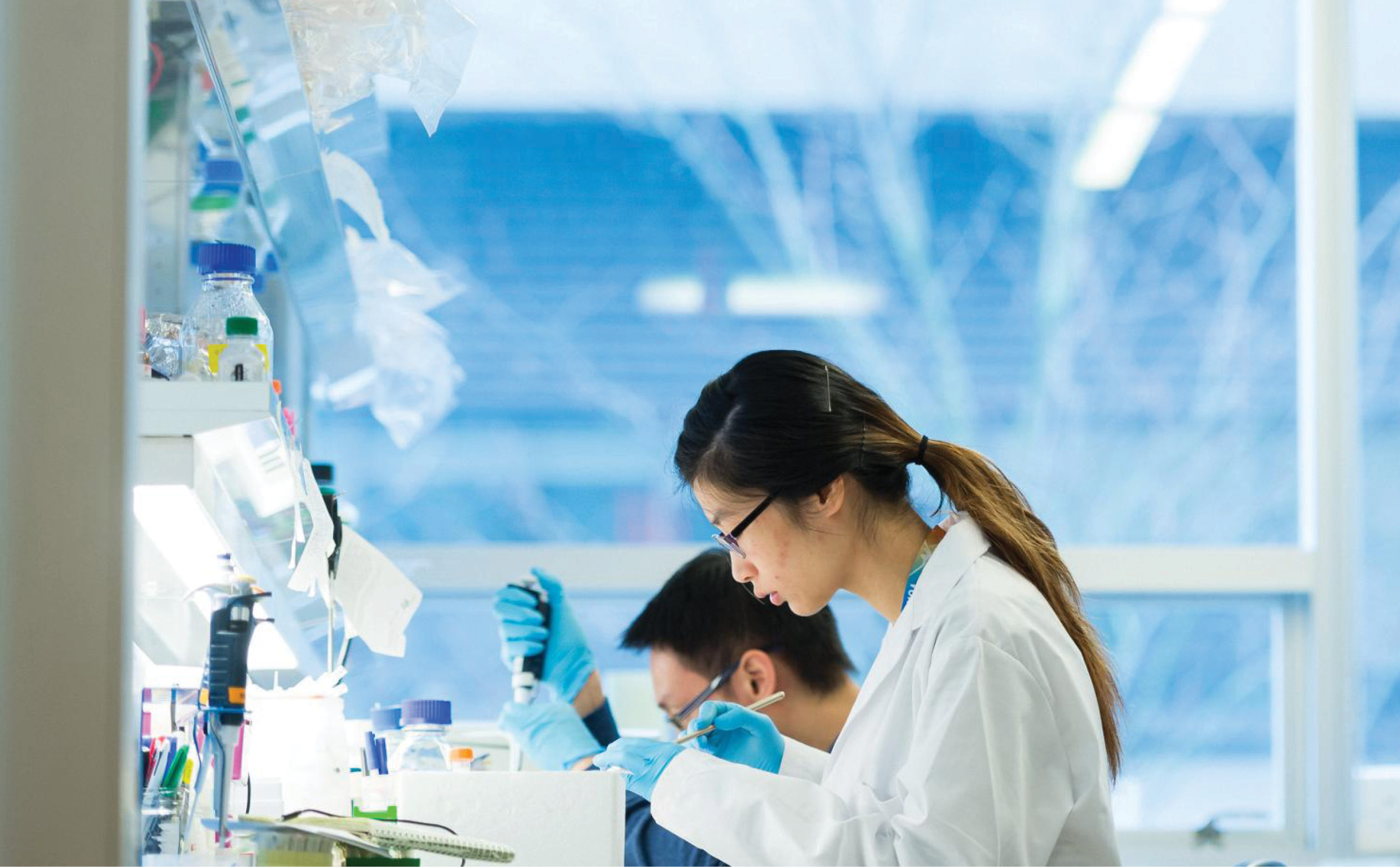 a female scientist working in a lab