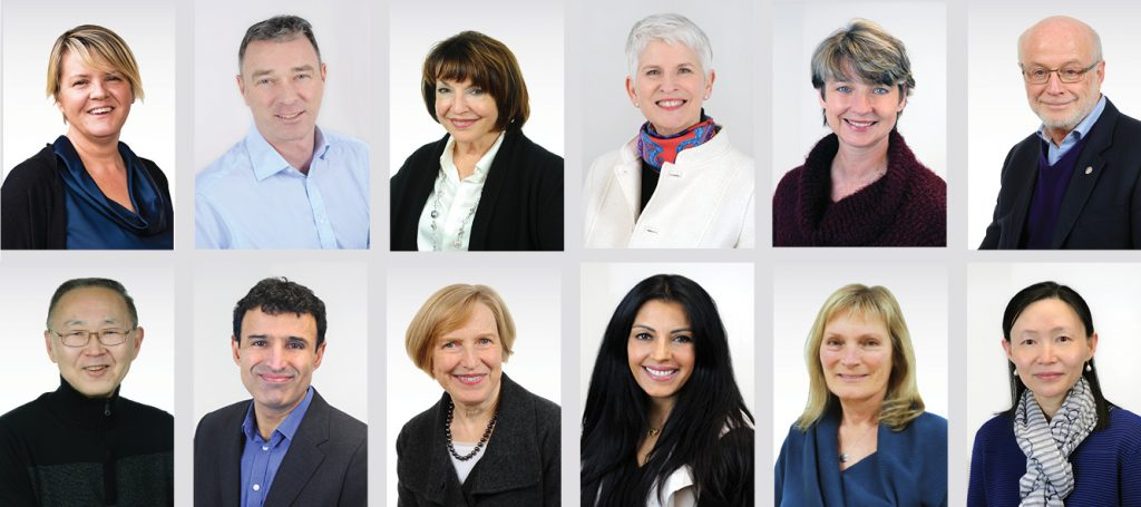a compilation of Library Board Trustee headshots