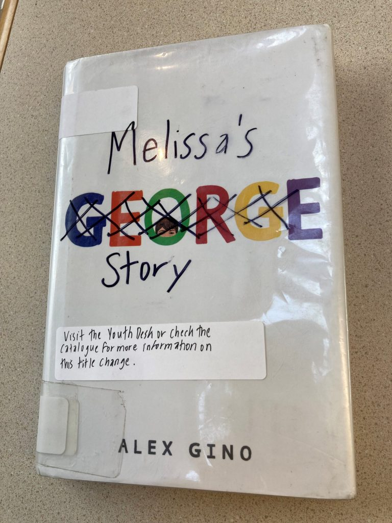 Melissa's Story book cover