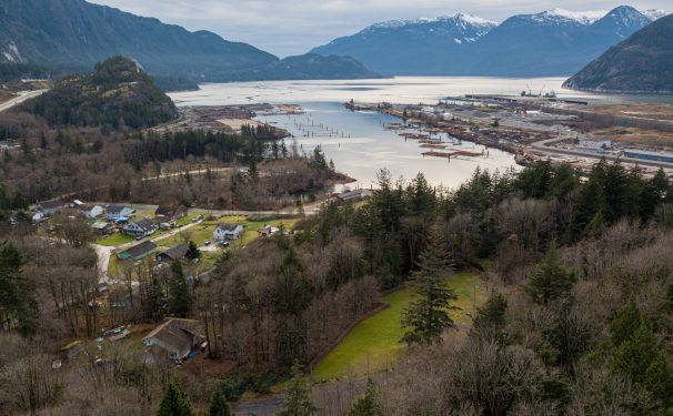 Squamish Nation reserve sound view