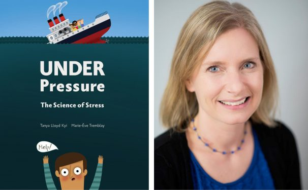 book cover of Under Pressure next to photo of author Tanya Lloyd Kyi