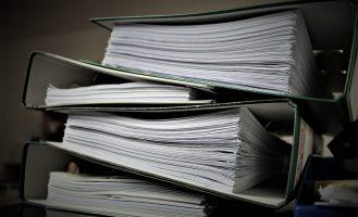 stack of binders